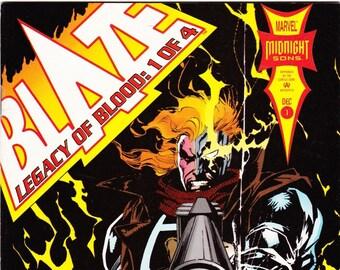 Vintage Comic Book, Blaze Legacy Of Blood, Number 1 of 4, December 1993, Marvel Comics