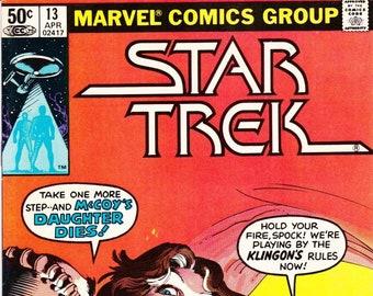 Vintage Star Trek Comic Book, Star Trek The Original Series, Number 13, April 1981, Marvel