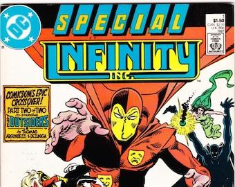 Vintage Infinity Inc. Special Comic Number 1 987 DC Comics