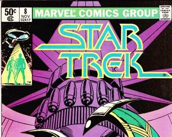 Vintage Star Trek Comic Book, Star Trek The Original Series, Number 8, November 1980, Marvel
