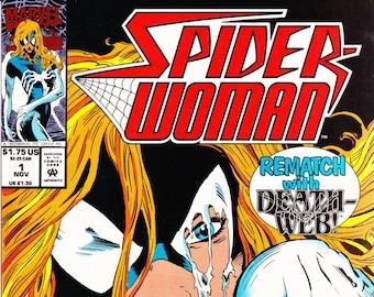 Vintage Comic Book, Spider-Woman, Volume 2 Number 1, November 1993, Marvel Comics