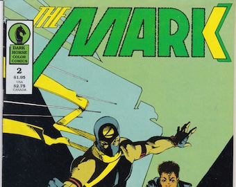 Vintage Comic Book, The Mark, Number 2, December 1987, Dark Horse Comics