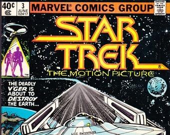 Vintage Star Trek Comic Book, Star Trek The Motion Picture, Number 3, June 1980, Marvel
