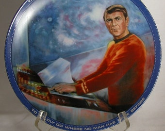 Vintage Star Trek Scotty Plate, Hamilton Collection 1983, Star Trek The Original Series