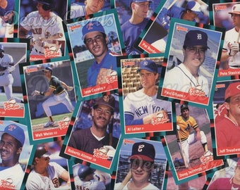 Vintage Baseball Cards 1-70 Donruss 1988 Singles, Combined Shipping, Order 1 or more cards and pay one combined shipping price