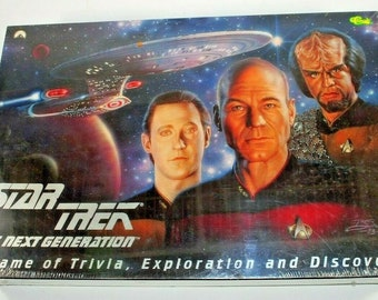 Vintage Star Trek The Next Generation A Game of Trivia and Exploration Board Game 1993