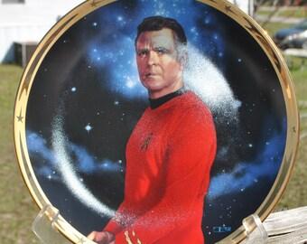 Vintage Star Trek Scotty Plate, Hamilton Collection 1983, Star Trek The Original Series
