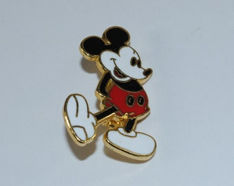 Vintage Mickey Mouse Enameled Lapel Pin 1980's