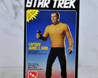 Vintage AMT Captain Kirk Model 1994 Star Trek The Original Series 12 Inch Model Kit Special Collectors Edition