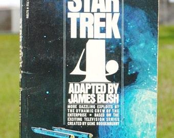 Vintage Star Trek Book, Star Trek No 4 By James Blish, 1971, Paperback