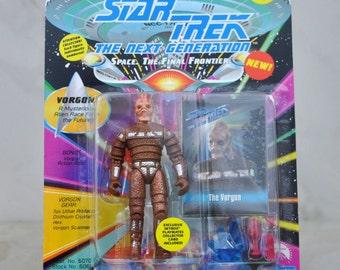 Vintage Star Trek Action Figure Vorgon A Mysterious Alien Race From The Future 6070 6061 1993 Next Generation, Playmates Figure