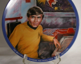 Vintage Star Trek Chekov Plate, Hamilton Collection 1983, Star Trek The Original Series