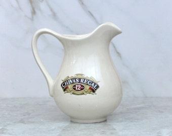 Vintage Chivas Regal Pitcher, Scotch Whiskey, Ceramic Pitcher, Water Pitcher, Ewer, Barware, Scotch, Chivas Brothers, Whiskey Ewer