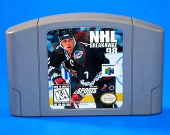 Vintage Nintendo 64 NHL Breakaway 98 1998, N64 Game