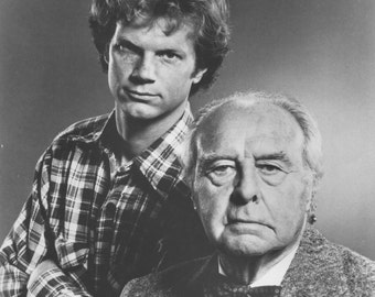 Vintage Photograph John Houseman and James Stephens in The Paper Chase 1978, 8x10 Black & White Promotional Photo, Movie Star Photograph