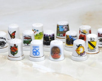 Vintage Thimbles, Your Choice, 6.99 Each, FREE SHIPPING, Various States, Porcelain, Metal, United States, State Souvenir, State Thimbles GP1