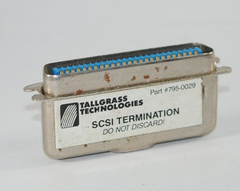 Vintage 50-Pin Passive SCSI Bus Terminator from Tallgrass Technologies, 1990s