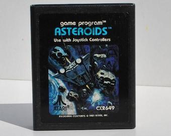 Vintage Atari 2600 Game, Asteroids, Atari, 1979