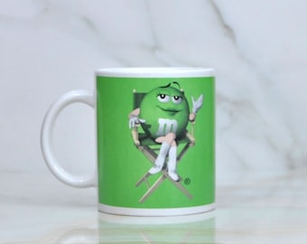 Vintage M&M Candy Ceramic Cup with Green Lady by Cryk Inc 1980s