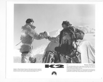 Vintage Photograph of Michael Biehn in K2, 1991, 8x10 Black & White Promotional Photograph