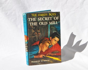 Vintage Hardy Boys Book, Detective Series, Hardback Book, Franklin W Dixon, The Hardy Boys, Mystery, Book, The Secret Of The Old Mill, 1962