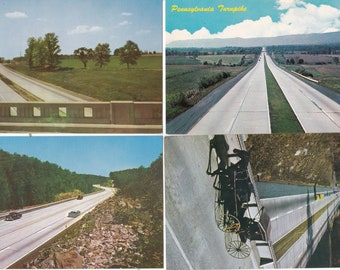 Vintage Postcard Bundle 4 Cards 1950s Pennsylvania