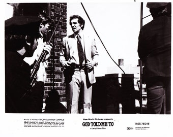 Vintage Photograph, Tony Lo Bianco, God Told Me To, 1976, 8x10 Black White
