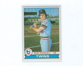 Vintage Baseball Card, 1979 Bob Randall 58, Minnesota Twins Second Baseman, TOPPS