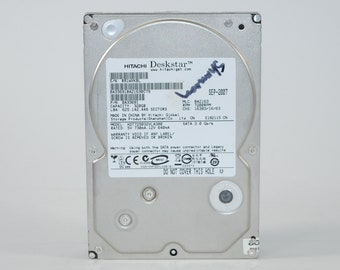 Vintage Hitachi Deskstar 320gb Hard Drive HD725032VLA380 7200 RPM, Internal Hard Drive