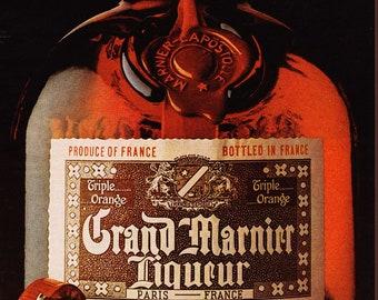 Vintage Grand Marnier Liqueur Original Magazine Advertisement 1972