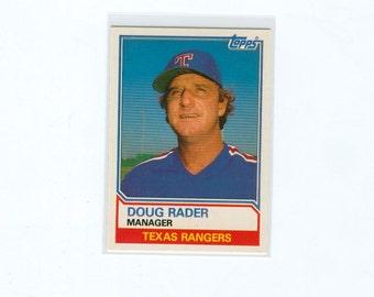 Vintage Baseball Card 1983 Doug Rader 91T, Texas Rangers Manager, TOPPS