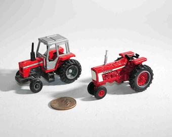 Vintage 2 Ertl Diecast Tractors Massey Ferguson 699 Farmall 706 Toy Farm Vehicles