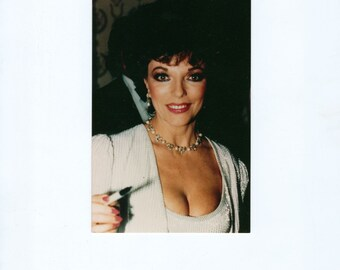 Vintage Photograph, Joan Collins, 4x4 Color, Movie Star Photo