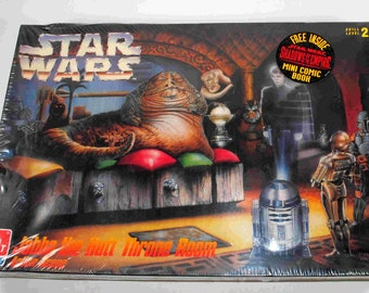 Vintage Star Wars Jabba The Hut Throne Room Action Scene Model Kit AMT 1996