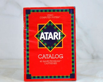 Vintage Atari Game Catalog From 1981 Covering 45 Different Games Defender - Haunted House - Circus Atari - Space War - Maze Craze - Breakout