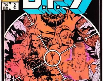 Vintage Comic Book DP7 Number 2 December 1986 Marvel New Universe
