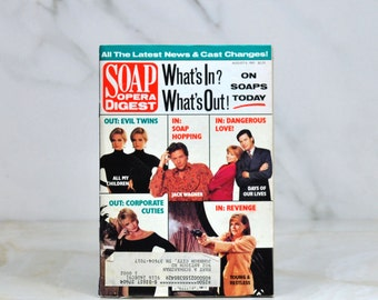 Vintage Soap Opera Digest, August 6th, 1991, All My Children, Jack Wagner, Days Of Our Lives, Young And The Restless, Alla Korot, Trachta
