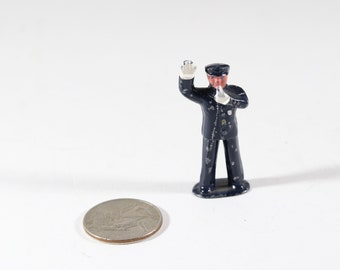 Vintage Barclay Manoil Lead Figure, Policeman Stopping Traffic, Made in the USA 1940s