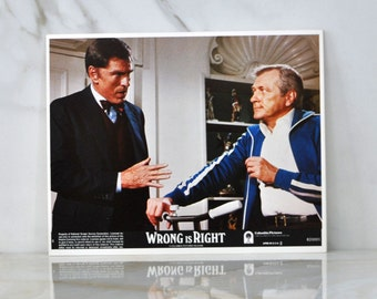 Vintage The Movie Wrong Is Right 8x10 Color Lobbycard,1982, Sean Conner, News Reporting, Covert Agencies, Nuclear Weapons, Newsman, TV