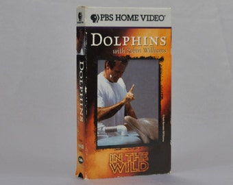 Vintage VHS Tape In the Wild Dolphins with Robin Williams PBS Home Video 1995 - Rare - Ocean - Documentary - Expose - Atlantic Ocean - Sea