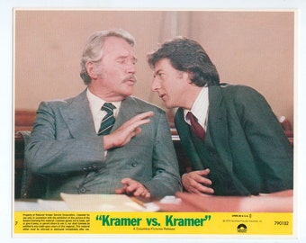 Vintage Lobby Card, Dustin Hoffman and Howard Duff 1979  8x10 Color