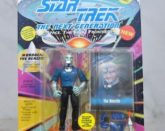Vintage Star Trek Action Figure Mordock The Benzite First Starfleet Cadet 6070 6057 1993 Next Generation, Playmates Figure
