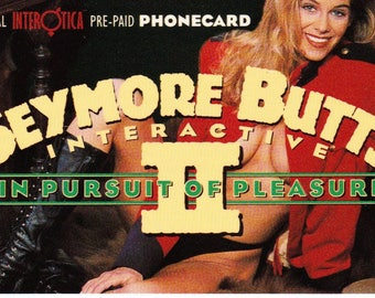 Vintage Phone Card 1995 Seymore Butts, Interactive, In Pursuit of Pleasure II, Official Interotica Phonecard