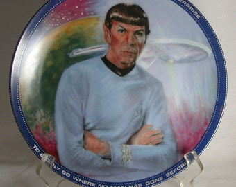 Vintage Star Trek Mr. Spock Plate, Hamilton Collection 1983, Star Trek The Original Series