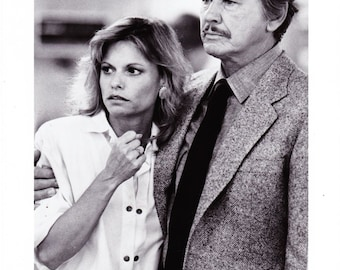 1987 Charles Bronson & Kay Lenz Vintage 8x10 Black and White Photograph - Studio Promotion - Death Wish 4