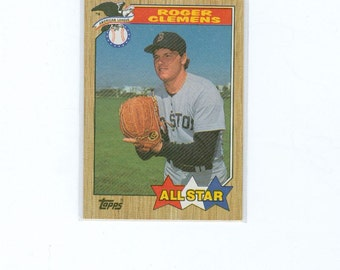 Vintage Roger Clemens, Naseball Card, 614 , 1987, Pitcher, TOPPS, All STAR, Trading Card, Sports Card, Vintage Sports Card, The Rocket