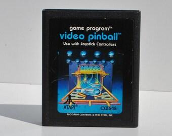 Vintage Atari 2600 Game, Video Pinball, Atari, 1981