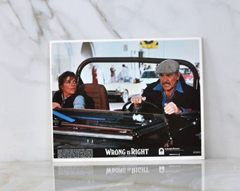 Vintage Lobby Card Sean Connery in Wrong Is Right 1982, 8x10 Color Lobby Card
