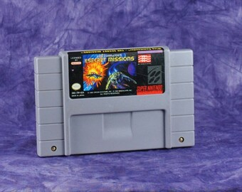 Vintage Super Nintendo SNES Game 16-Bit Wing Commander: The Secret Missions Origin 1994 - Fighting - Space - Battle - TCS Tiger's Claw