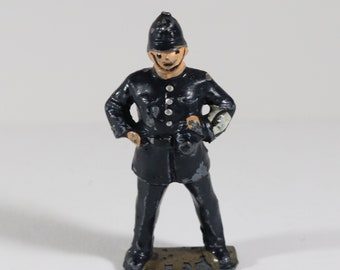 Vintage Barclay Manoil Lead Figure, Policeman Standing Watch Made in England 1950s